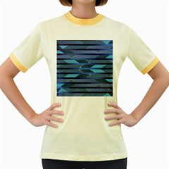 Fabric Texture Alternate Direction Women s Fitted Ringer T Shirts