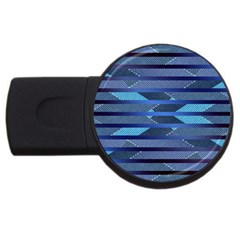 Fabric Texture Alternate Direction Usb Flash Drive Round (2 Gb)