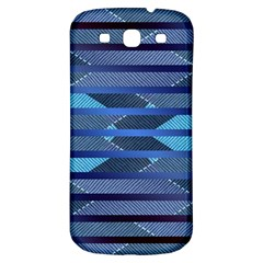 Fabric Texture Alternate Direction Samsung Galaxy S3 S Iii Classic Hardshell Back Case