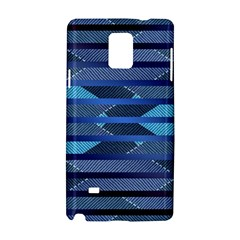 Fabric Texture Alternate Direction Samsung Galaxy Note 4 Hardshell Case