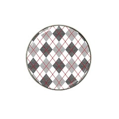 Fabric Texture Argyle Design Grey Hat Clip Ball Marker (10 Pack) by Nexatart