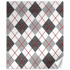 Fabric Texture Argyle Design Grey Canvas 8  X 10