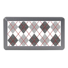 Fabric Texture Argyle Design Grey Memory Card Reader (mini)
