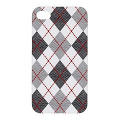 Fabric Texture Argyle Design Grey Apple Iphone 4/4s Hardshell Case