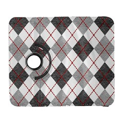 Fabric Texture Argyle Design Grey Galaxy S3 (flip/folio) by Nexatart