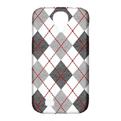 Fabric Texture Argyle Design Grey Samsung Galaxy S4 Classic Hardshell Case (pc+silicone)
