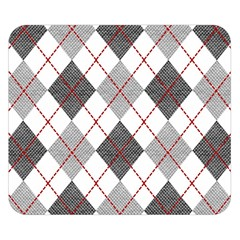 Fabric Texture Argyle Design Grey Double Sided Flano Blanket (small)  by Nexatart