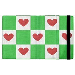 Fabric Texture Hearts Checkerboard Apple Ipad 3/4 Flip Case