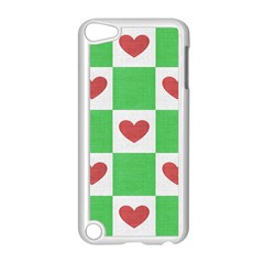 Fabric Texture Hearts Checkerboard Apple Ipod Touch 5 Case (white)