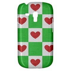 Fabric Texture Hearts Checkerboard Galaxy S3 Mini