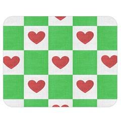 Fabric Texture Hearts Checkerboard Double Sided Flano Blanket (medium)  by Nexatart