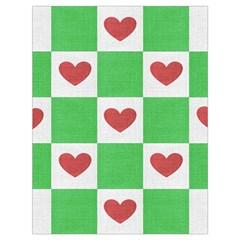 Fabric Texture Hearts Checkerboard Drawstring Bag (large) by Nexatart