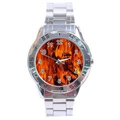 Fire Easter Easter Fire Flame Stainless Steel Analogue Watch by Nexatart