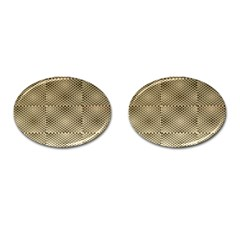 Fashion Style Glass Pattern Cufflinks (oval)