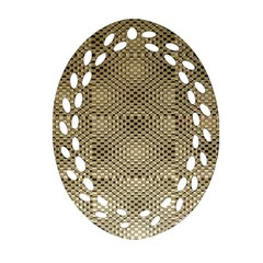 Fashion Style Glass Pattern Oval Filigree Ornament (two Sides)
