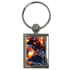 Fire Embers Flame Heat Flames Hot Key Chains (rectangle)