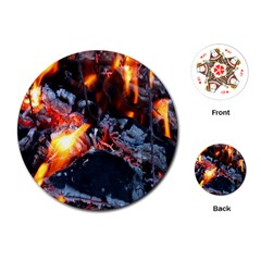 Fire Embers Flame Heat Flames Hot Playing Cards (round)