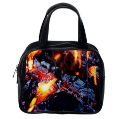 Fire Embers Flame Heat Flames Hot Classic Handbags (one Side)