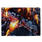 Fire Embers Flame Heat Flames Hot Cosmetic Bag (XXL)  Back