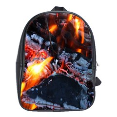 Fire Embers Flame Heat Flames Hot School Bags (xl)