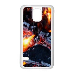 Fire Embers Flame Heat Flames Hot Samsung Galaxy S5 Case (white)
