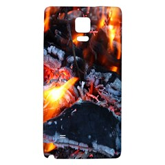 Fire Embers Flame Heat Flames Hot Galaxy Note 4 Back Case by Nexatart
