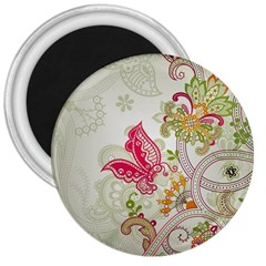 Floral Pattern Background 3  Magnets