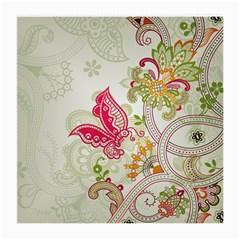 Floral Pattern Background Medium Glasses Cloth (2 Side)