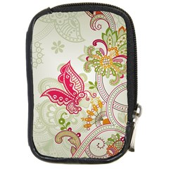 Floral Pattern Background Compact Camera Cases by Nexatart