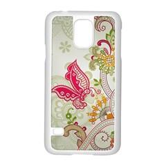 Floral Pattern Background Samsung Galaxy S5 Case (white)