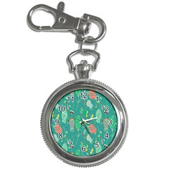 Floral Elegant Background Key Chain Watches