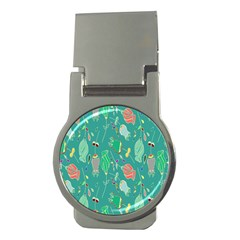 Floral Elegant Background Money Clips (round)  by Nexatart