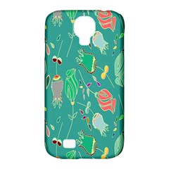 Floral Elegant Background Samsung Galaxy S4 Classic Hardshell Case (pc+silicone)