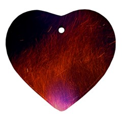 Fire Radio Spark Fire Geiss Heart Ornament (Two Sides)