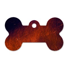Fire Radio Spark Fire Geiss Dog Tag Bone (Two Sides)
