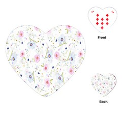 Floral Pattern Background  Playing Cards (heart)  by Nexatart