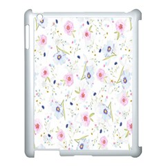 Floral Pattern Background  Apple Ipad 3/4 Case (white) by Nexatart