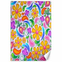 Floral Paisley Background Flower Canvas 20  X 30