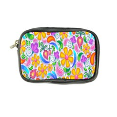 Floral Paisley Background Flower Coin Purse by Nexatart