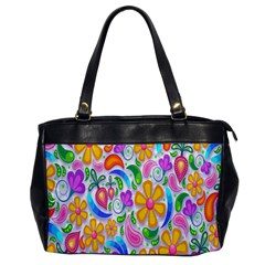 Floral Paisley Background Flower Office Handbags