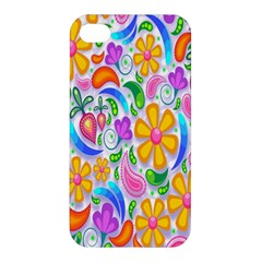 Floral Paisley Background Flower Apple Iphone 4/4s Premium Hardshell Case