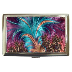 Feather Fractal Artistic Design Cigarette Money Cases by Nexatart