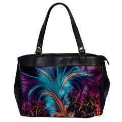 Feather Fractal Artistic Design Office Handbags
