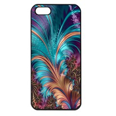 Feather Fractal Artistic Design Apple Iphone 5 Seamless Case (black)