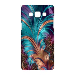 Feather Fractal Artistic Design Samsung Galaxy A5 Hardshell Case  by Nexatart