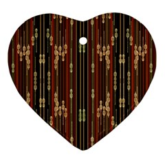 Floral Strings Pattern Heart Ornament (two Sides)