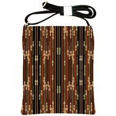 Floral Strings Pattern Shoulder Sling Bags by Nexatart