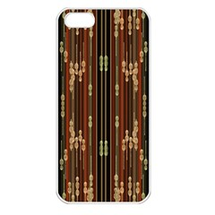 Floral Strings Pattern Apple Iphone 5 Seamless Case (white)