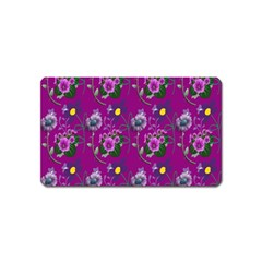 Flower Pattern Magnet (name Card) by Nexatart