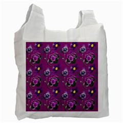 Flower Pattern Recycle Bag (two Side)  by Nexatart